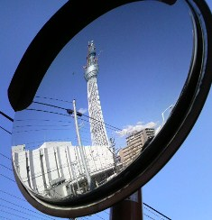 鏡の中のスカイツリー