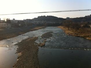 広瀬川をおほはしから望む