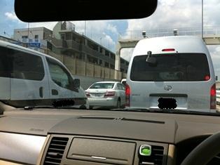 渋滞中の首都高