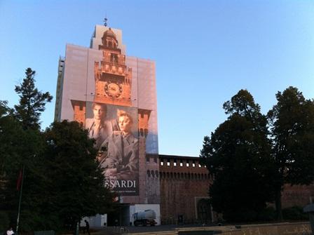 スフォルツァ城は工事中